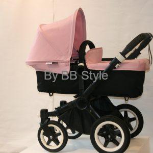 BUGABOO DONKEY mono- svart/soft pink