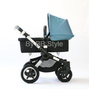 Bugaboo Buffalo petrol blue/ ligg och sitt barnvagn. (second hand )